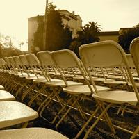 Easter - Setup Chairs in Sunken Garden