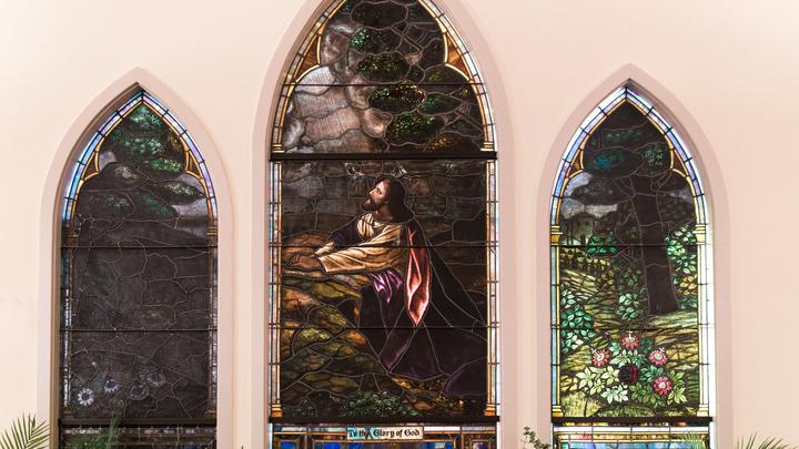 Medium jesus stain glass