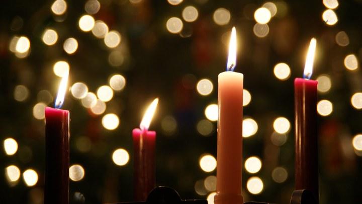 Medium advent christmas candle 10