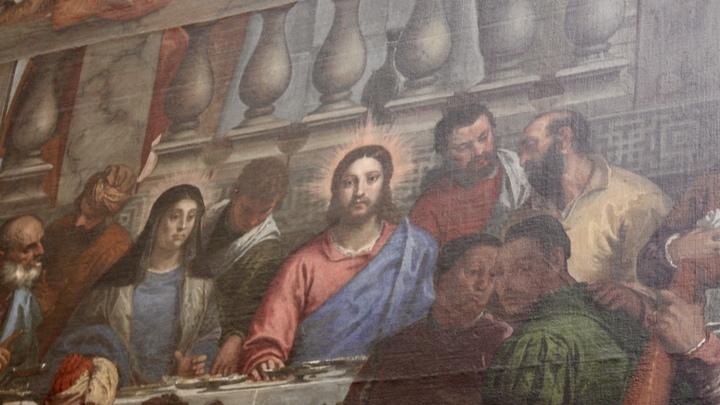 Medium wedding cana jesus painting
